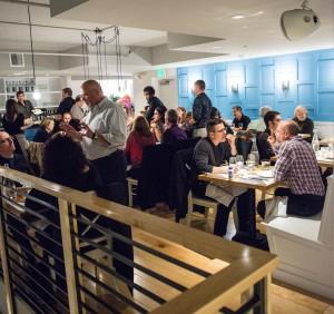 Mezzanine wine tasting for O bar private dining room